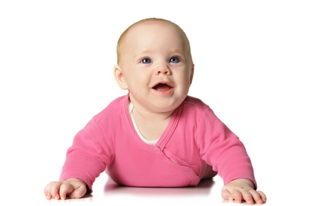 Beautiful six month old baby girl Stock Photo - 15783455
