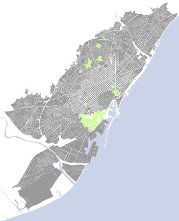 map of the city of Barcelona, Spain