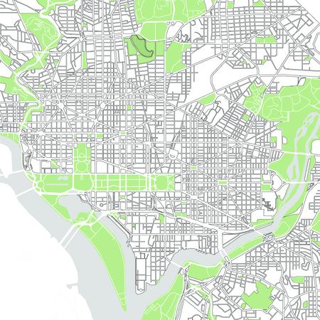 map of the city of Washington, D.C., USA