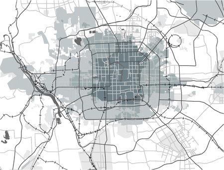 illustration map of the city of Peking, China Reklamní fotografie - 76935875
