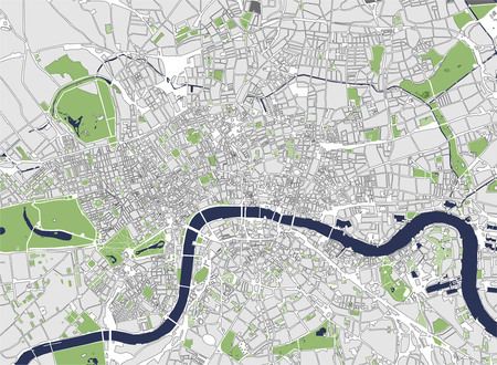britannia: Vector map of the city of London, Great Britain Illustration