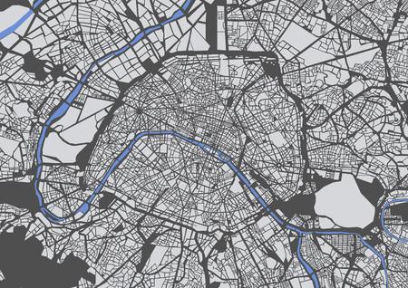 파리, 프랑스의 도시지도