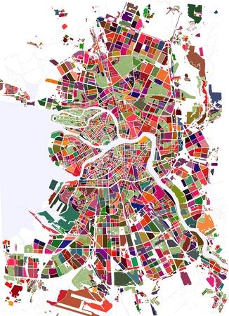 지도 상트 페테르부르크, 러시아 일러스트
