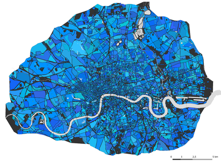 vector multicolor map of the city of London, Great Britain 矢量图像