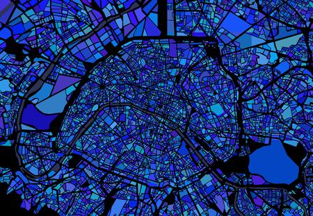 Mappa della città di Parigi, Francia Archivio Fotografico - 79060886