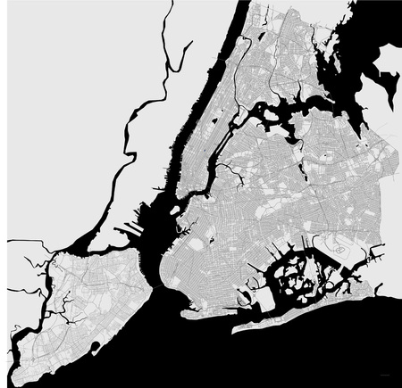 Map of the New York City, NY, USA Banco de Imagens - 79331475