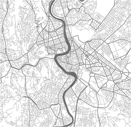 Mapa wektorowa miasta Rzym, Włochy.
