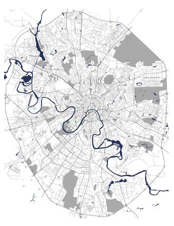mapa del vector de la ciudad de Moscú, Rusia