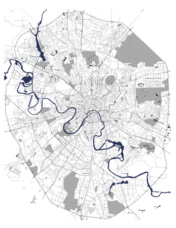 vector map of the city of Moscow, Russia