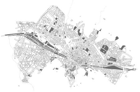 Mappa della città di Firenze, Italia Vettoriali