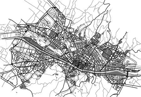 Mappa della città di Firenze, Italia Archivio Fotografico - 83563115
