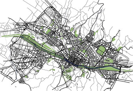 Mappa della città di Firenze, Italia Archivio Fotografico - 83563116