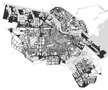 urban planning: City Map of Amsterdam, Netherlands