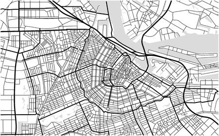 암스테르담, 네덜란드의 도시지도 스톡 콘텐츠 - 85116710
