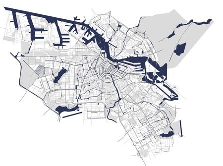 City Map of Amsterdam, Netherlands