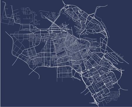 암스테르담, 네덜란드의 도시지도 일러스트