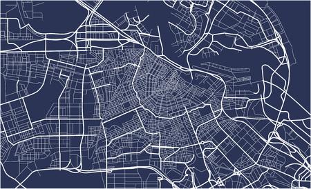 Mapa miasta Amsterdam, Holandia