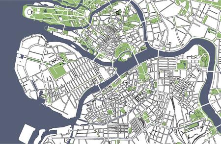 地図サンクトペテルブルク、ロシア 写真素材 - 85425418