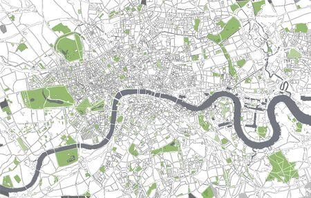도시 런던, 영국의 그림지도 스톡 콘텐츠