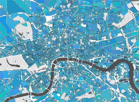 Illustratie multicolor kaart van de stad Londen, Groot-Brittannië Stockfoto - 88551678