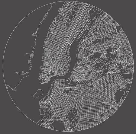アメリカ合衆国ニューヨーク市ニューヨーク マンハッタンのベクトル地図 写真素材