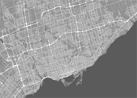 map of the city of Toronto, Canada