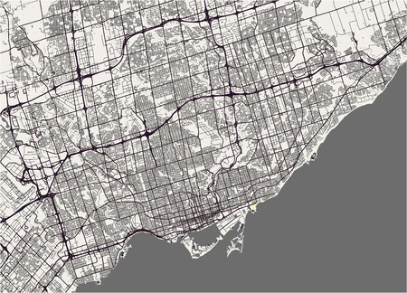 vector map of the city of Toronto, Canada 스톡 콘텐츠 - 94236799