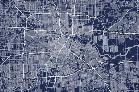 Map of the city of Houston, U.S.