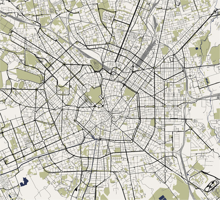 Map Of The City Of Milan Capital Of Lombardy Italy Stock Photo