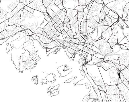 Karte der Stadt Oslo, Norwegen Vektorgrafik