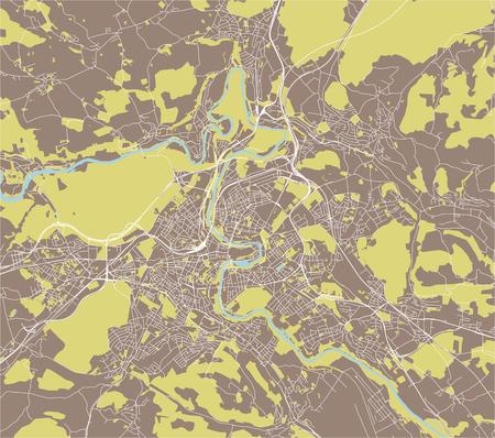 vector map of the city of Bern, Switzerland