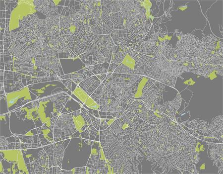 vector map of the city of Ankara, Turkey  イラスト・ベクター素材