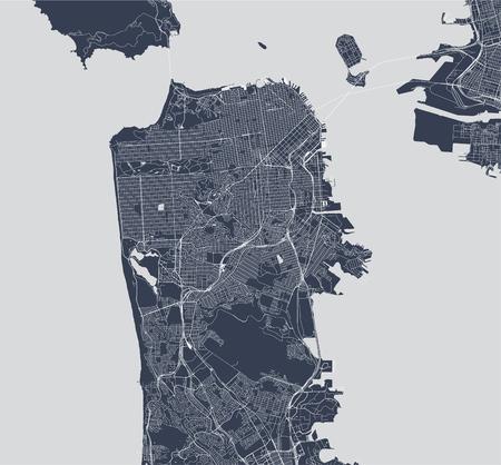 vector map of the city of San Francisco, USA Standard-Bild - 114839414