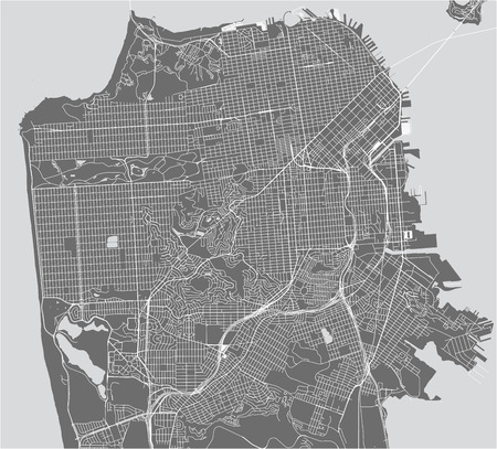 vector map of the city of San Francisco, USA 스톡 콘텐츠 - 114776994