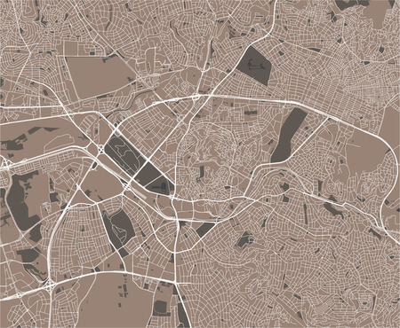 vector map of the city of Ankara, Turkey Illustration