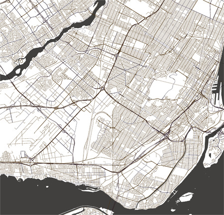 vector map of the city of Montreal , Canada