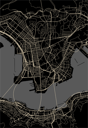 vector map of the city of Hong Kong, Special Administrative Region of the People's Republic of China
