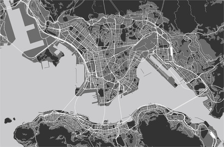 vector map of the city of Hong Kong, Special Administrative Region of the Peoples Republic of China