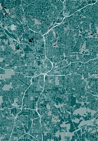 vector map of the city of Atlanta, USA