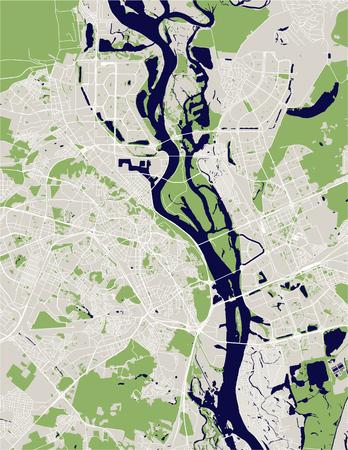 vector map of the city of Kiev, Ukraine