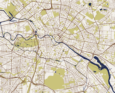 vector map of the city of Berlin, Germany