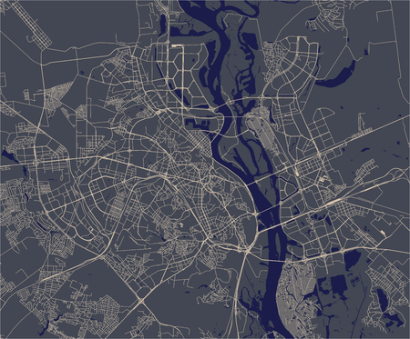 vector map of the city of Kiev, Ukraine