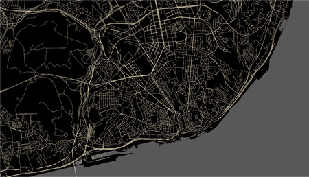 vector map of the city of Lisbon, Portugal Stock fotó - 107325832