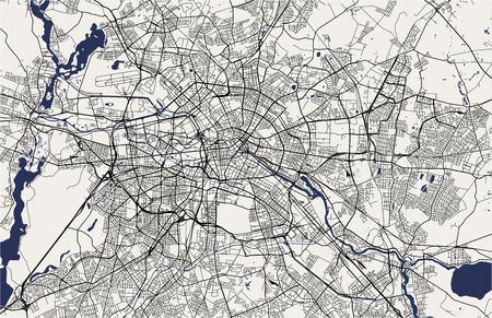 Vektorkarte der Stadt Berlin, Deutschland