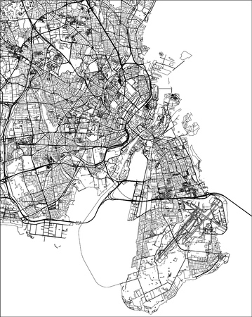 vector map of the city of Copenhagen, Denmark