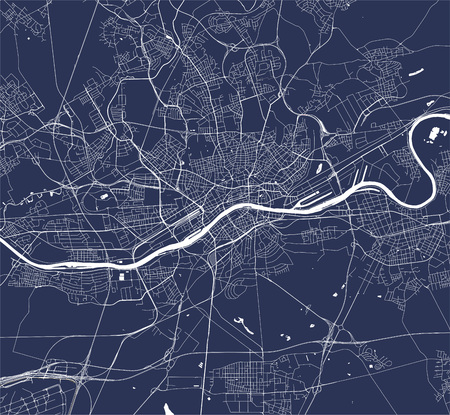 vector map of the city of Frankfurt am Main, Hesse, Germany 向量圖像