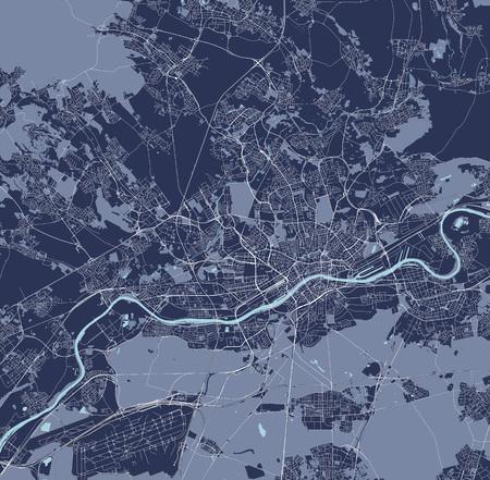vector map of the city of Frankfurt am Main, Hesse, Germany  イラスト・ベクター素材