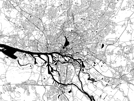 vector map of the city of Hamburg, Free and Hanseatic City of Hamburg, Germany Stock fotó - 112674026