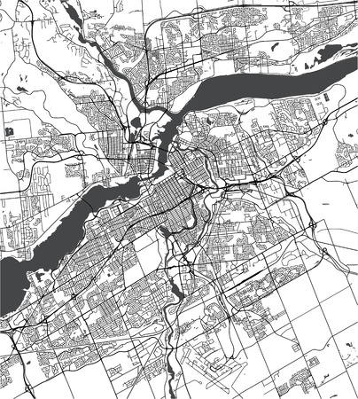 Vector map of the city of Ottawa, Ontario, Canada Иллюстрация