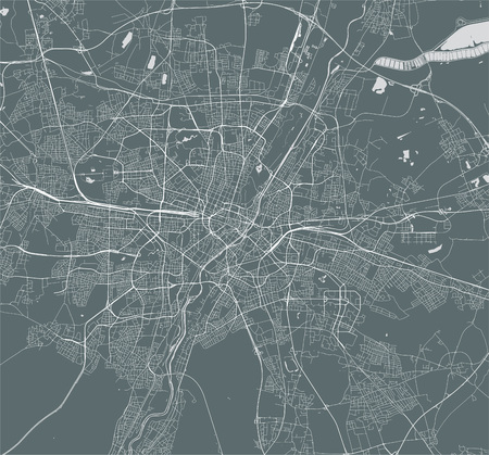 vector map of the city of Munich, Bavaria, Germany Vektoros illusztráció